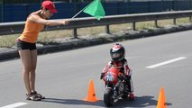 four year old motorcycle racer