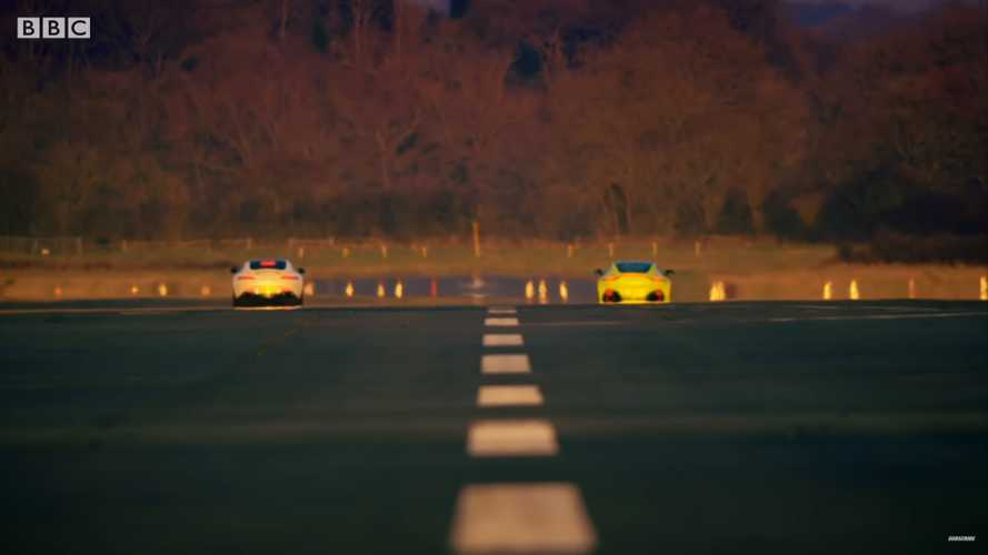 Top Gear Vantage vs AMG GT drag race