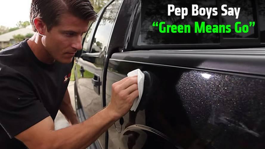 "Pep Boys Say ""Green Means Go"""