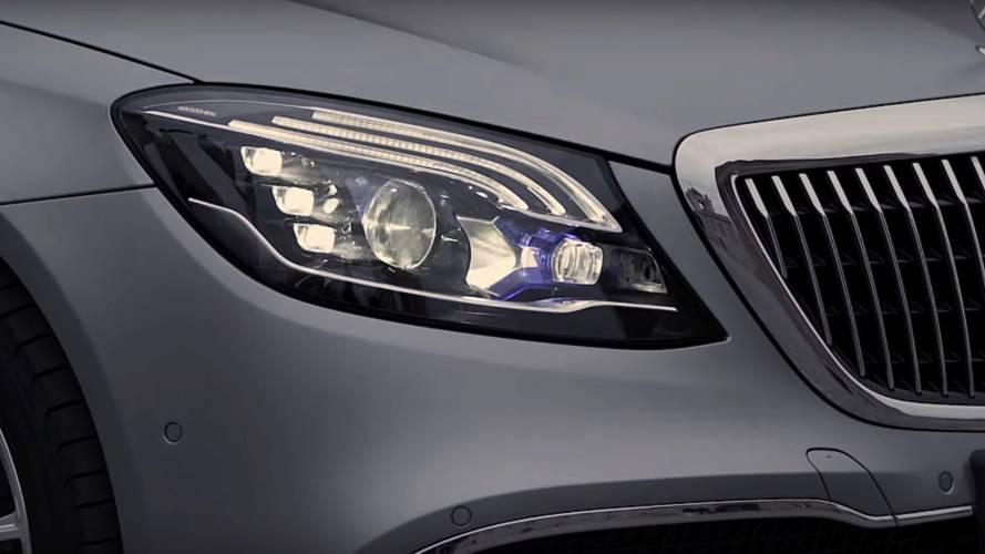 This Maybach S-Class talks through its headlights