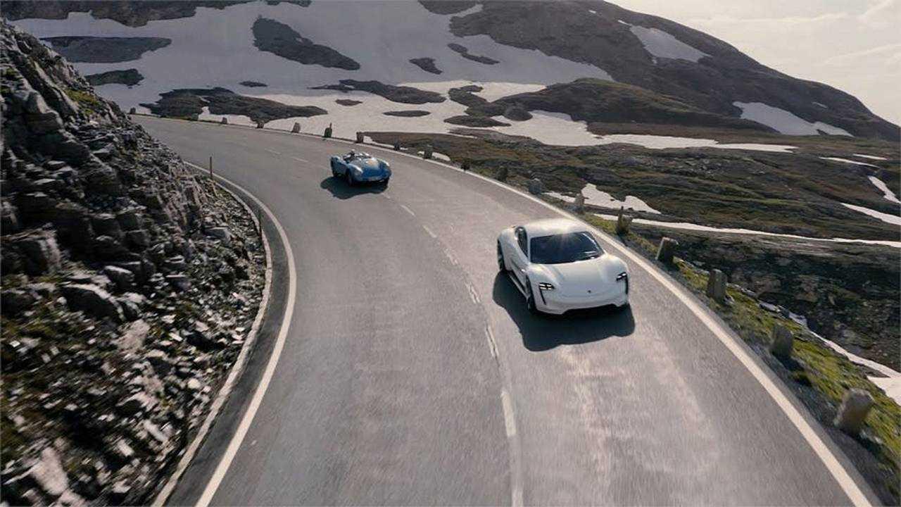 Porsche Taycan Mountain