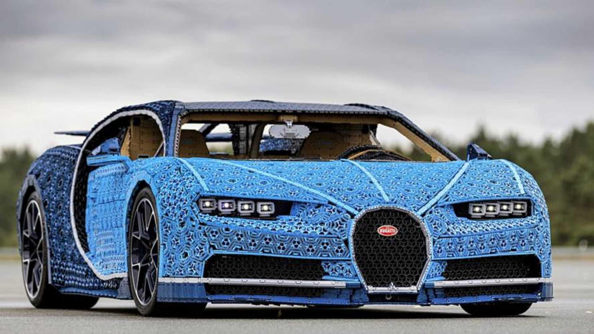 VIDÉO - Lego présente une Bugatti Chiron à l'échelle 1 et roulante !