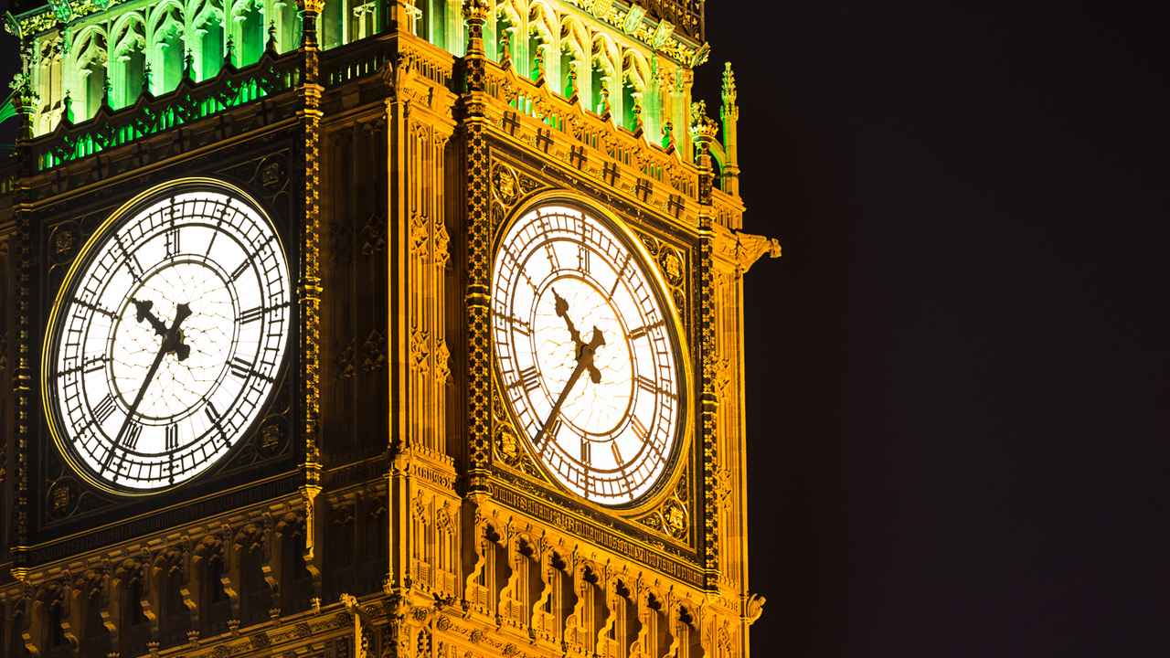 Big Ben at night London United Kingdom