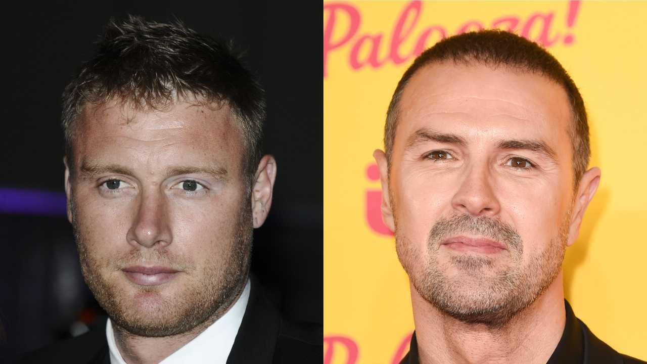 Andrew Flintoff and Paddy McGuinness