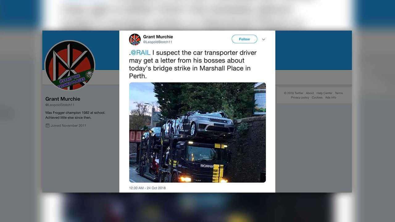 Jaguar Land Rover Car Carrier Crash