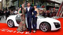 Hugh Jackman and the Audi R8 V10 17.7.2013
