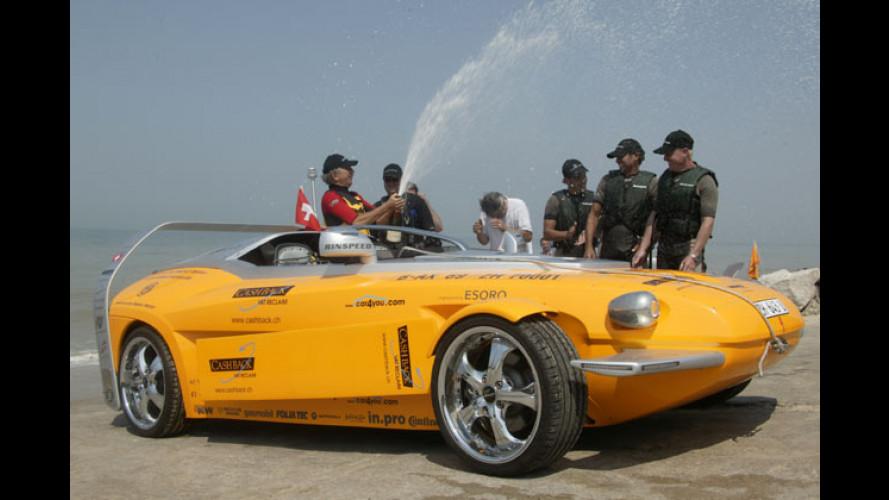 Rinspeed Splash: Hochsee-Auto mit Schwimmflügeln