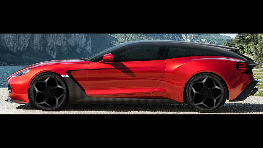Aston Martin Vanquish Zagato Speedster Shooting Brake Debut