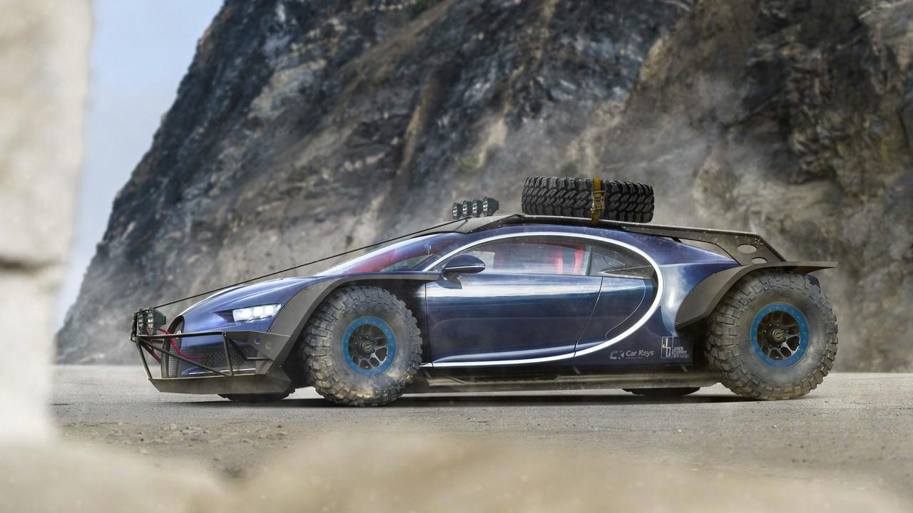 Bugatti Chiron savaş aracı