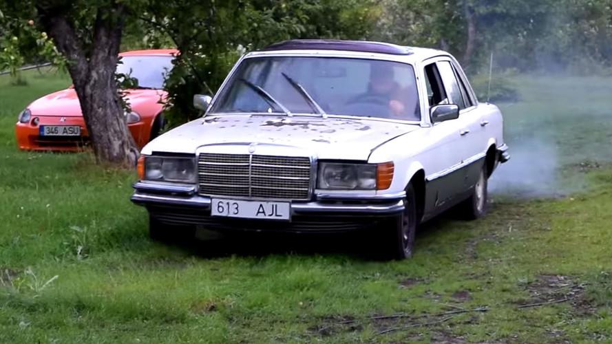 [VİDEO] Dizel Mercedes W116, 9 yıl sonra ilk kez çalıştırılıyor