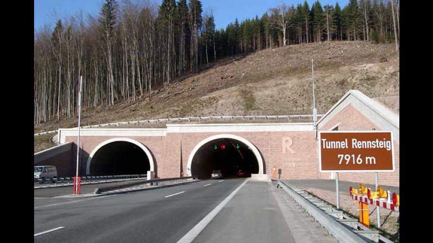 ADAC Tunneltest 2004: Vier von 27 Röhren durchgefallen