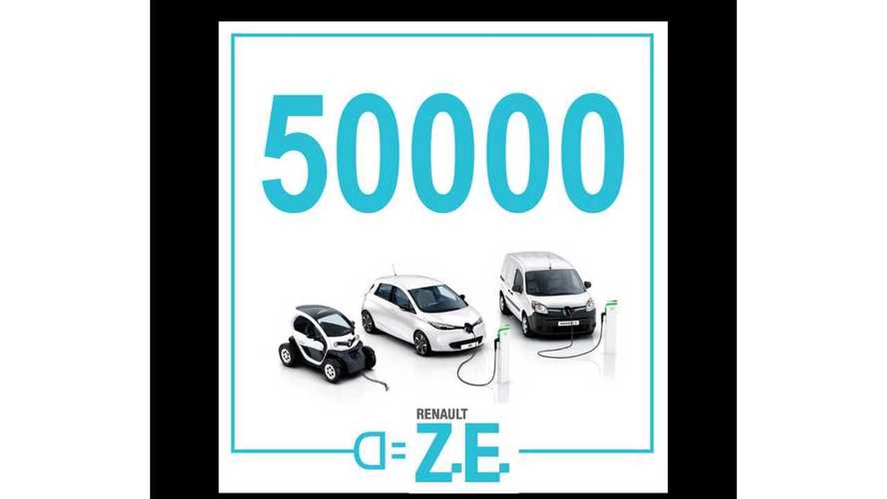 Renault Celebrates 50,000 Electric Vehicles Sold