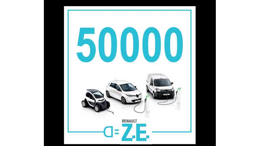 Renault Celebrates 50,000 Electric Vehicles Sold