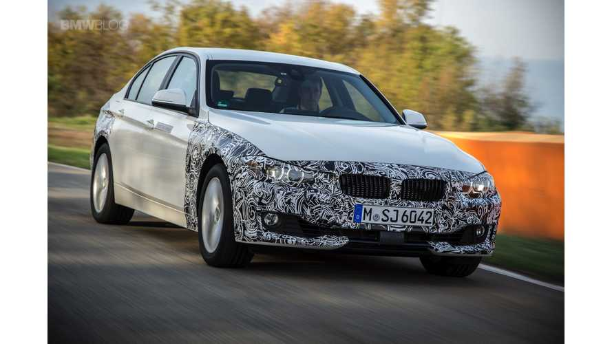 BMW 3 Series eDrive Plug-In Hybrid Revealed - Launch Scheduled For Early 2016