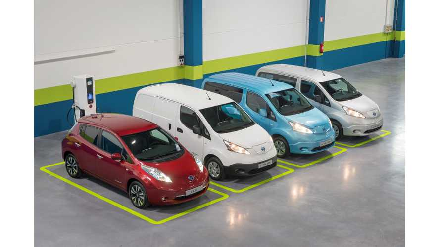 Nissan Sold 15,000 LEAFs In Europe In 2014 - e-NV200 Adds 2,300