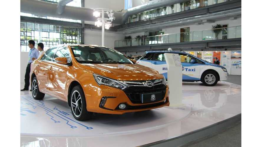 China Plug-In Electric Vehicles Sales Target By End Of 2015: 336,000 Units