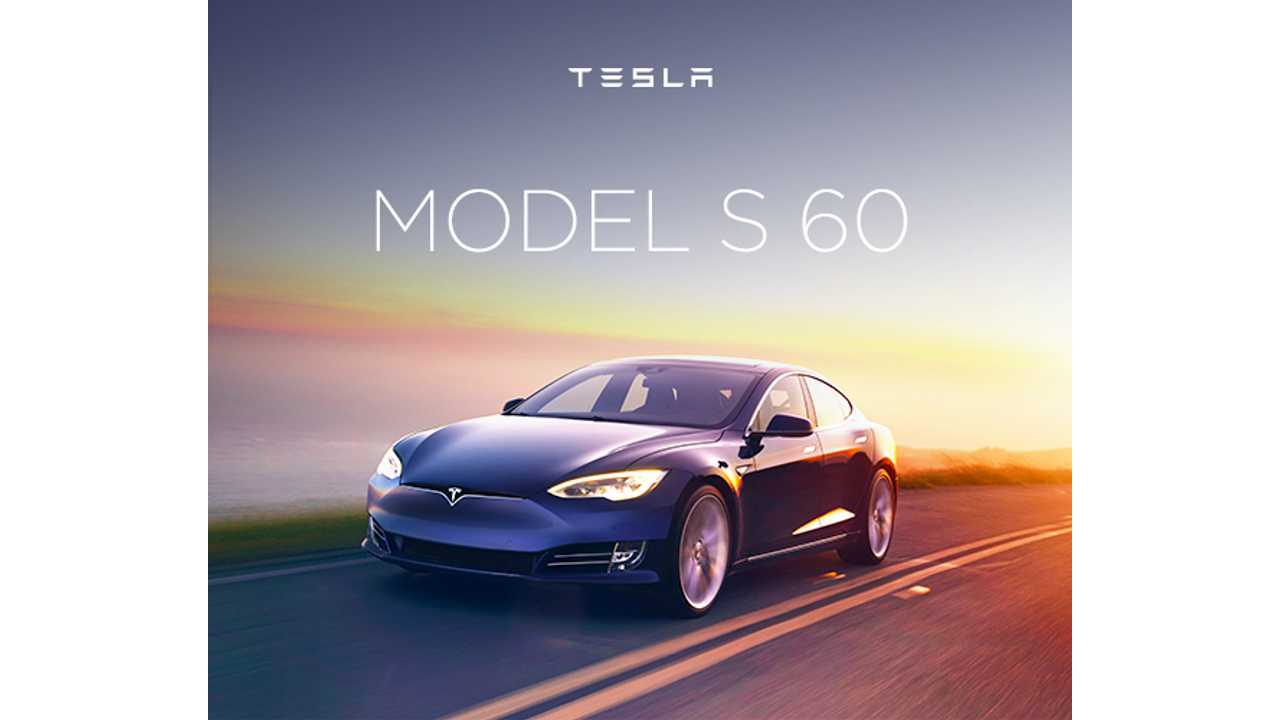 Tesla Model S 60 Is No More