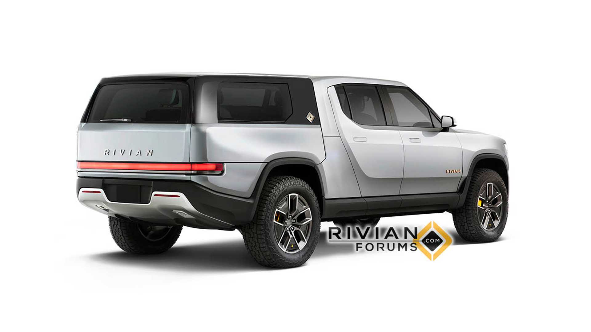New Rivian R1t Pickup Truck Renders Show Camper Flatbed More