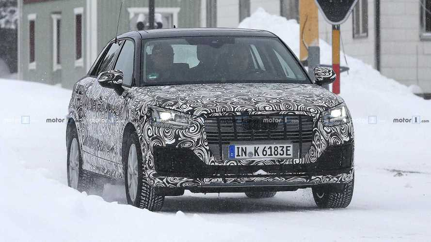 Audi Q2 E-Tron Electric Car Caught Testing In the Snow
