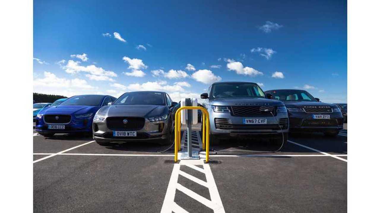 Jaguar Land Rover Installs UK's Largest Work Charging Station