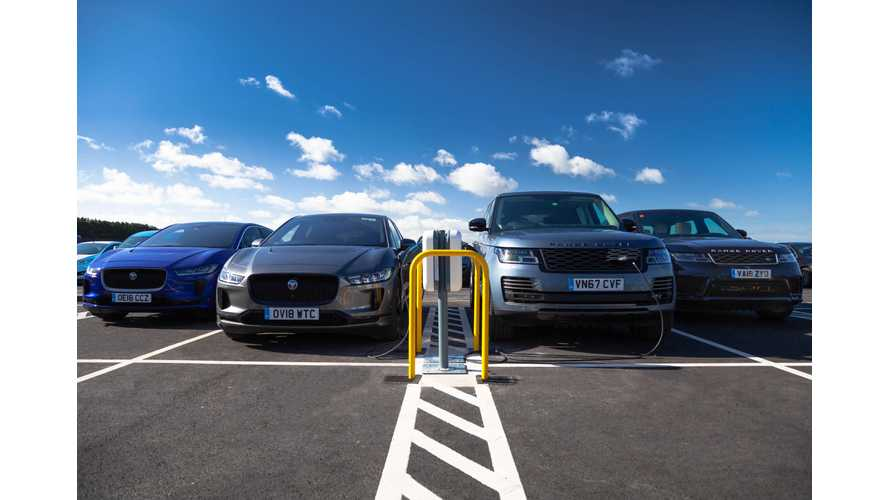 Jaguar Land Rover Installs UK's Largest Work Charging Station