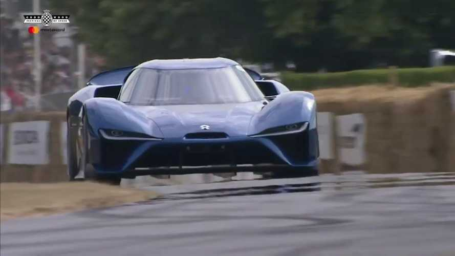 Watch NIO EP9 Charge Up The Hill At Goodwood