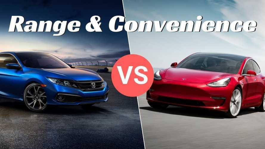 Tesla Model 3 vs Honda Civic - Why 400+ Miles Makes Sense