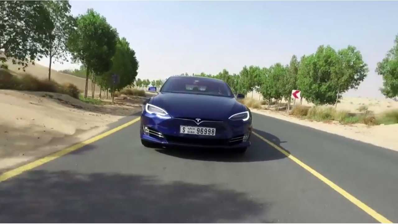 First Tesla Model S Review From Dubai - Video