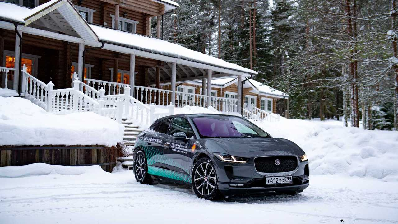 Jaguar I-Pace Winter Journey From St. Petersburg To Moscow
