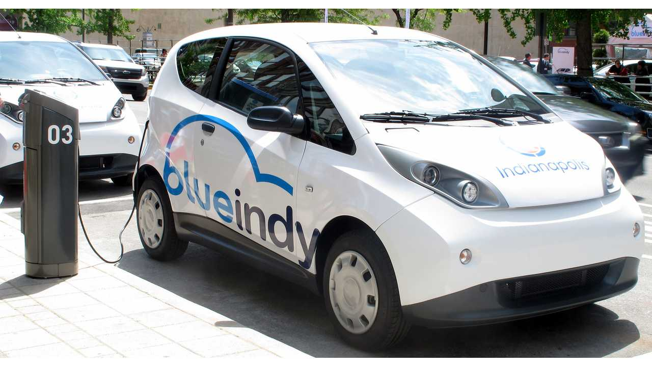 BlueIndy Electric Car Sharing Program Now Operational