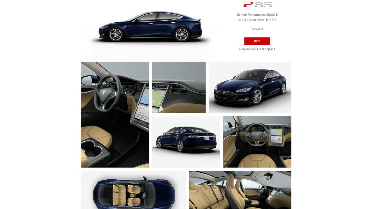 When you click on one of the CPO Model S', it shows the battery pack version, year, odometer, VIN, & price...