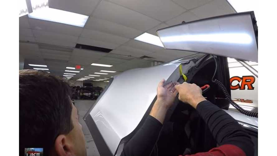 Tesla Model X Falcon Wing Doors Explored, Explained, Dents Removed - Video