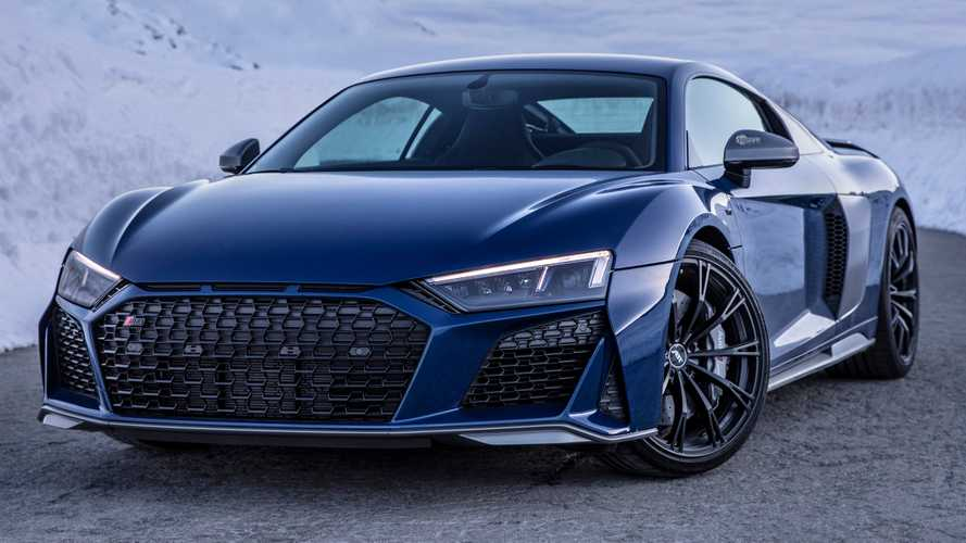 See Audi R8 V10 Performance with ABT wheels climb the Alps