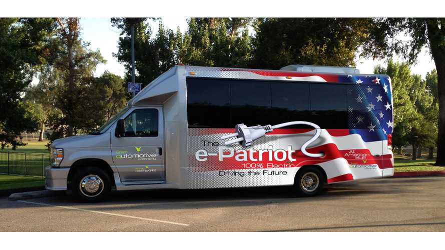 e-PATRIOT Electric Shuttle Bus Made In California (Video)