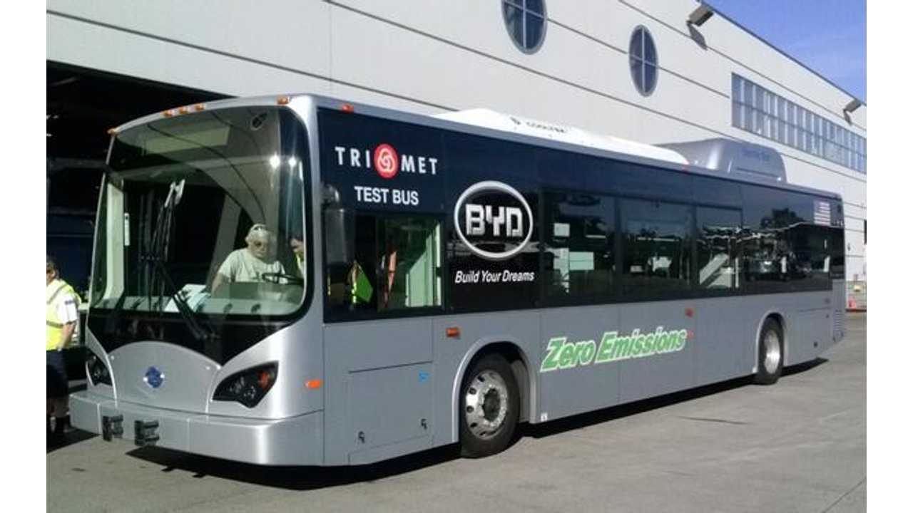 Oregon Tests Its First Electric Bus For Portland Area