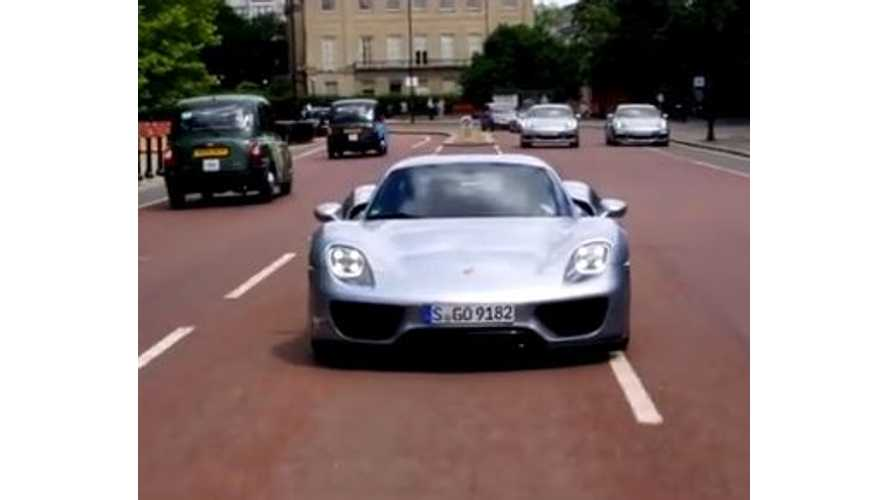 Porsche 918 Spyder Hits The Road In London - Video