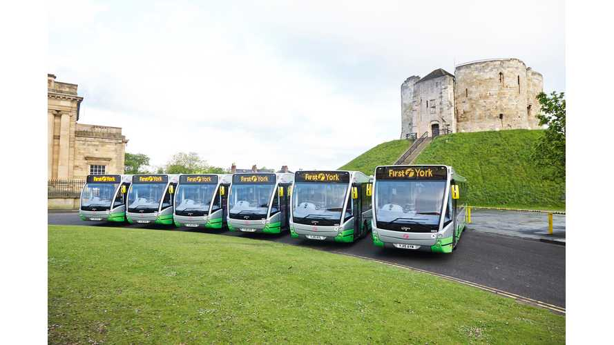 York Gets Six Optare Versa Electric Buses