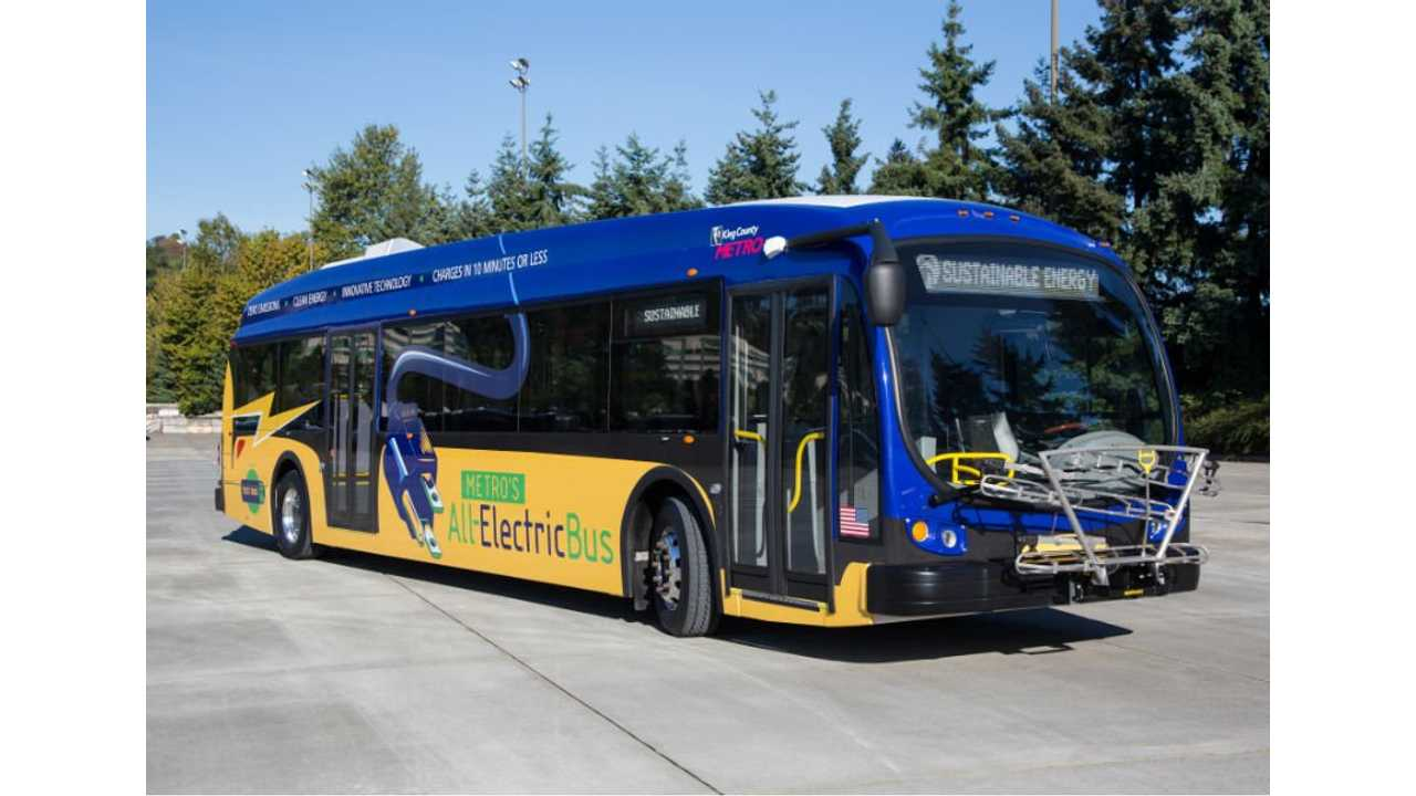 King County Metro Transit's Proterra electric bus