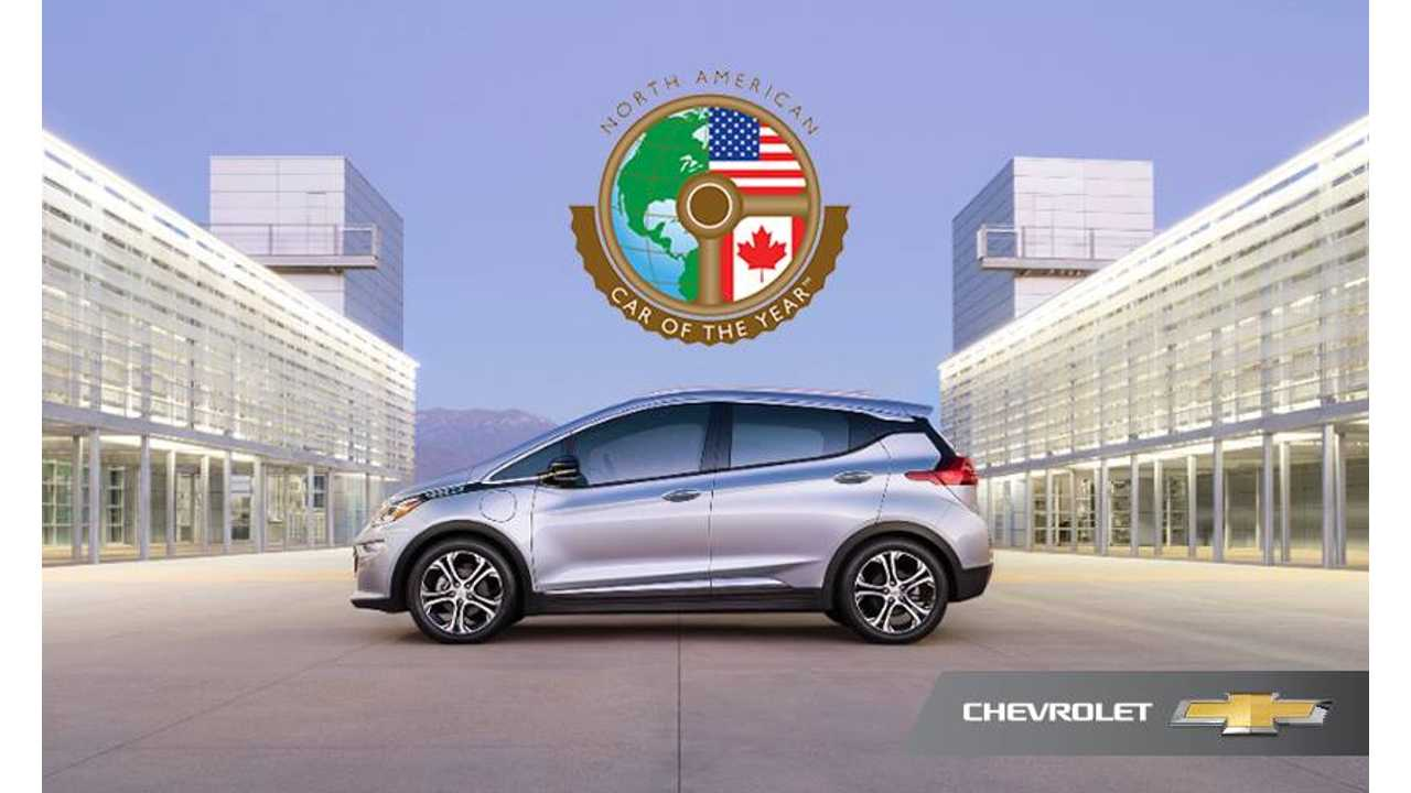 Chevrolet Bolt Captures Coveted North American Car Of The Year Award