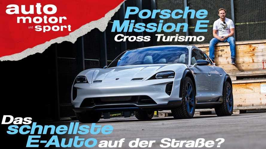 Watch Porsche Mission E Cross Turismo Charge At 250 kW