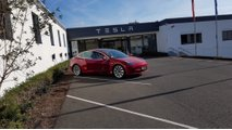 Tesla Model 3 Spotted In Europe With Different Charging Inlet