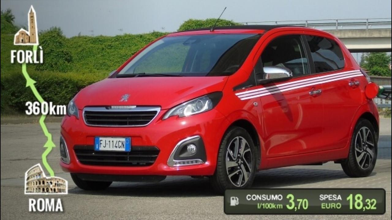 [Copertina] - Peugeot 108 PureTech 82, la prova dei consumi reali