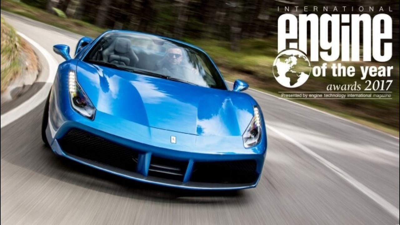 [Copertina] - Ferrari 488 GTB, il V8 italiano è International Engine of the Year 2017
