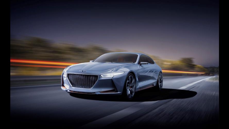 Genesis New York Concept, in arrivo la berlina-coupé