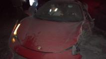 La Ferrari 458 distrutta di Vidal