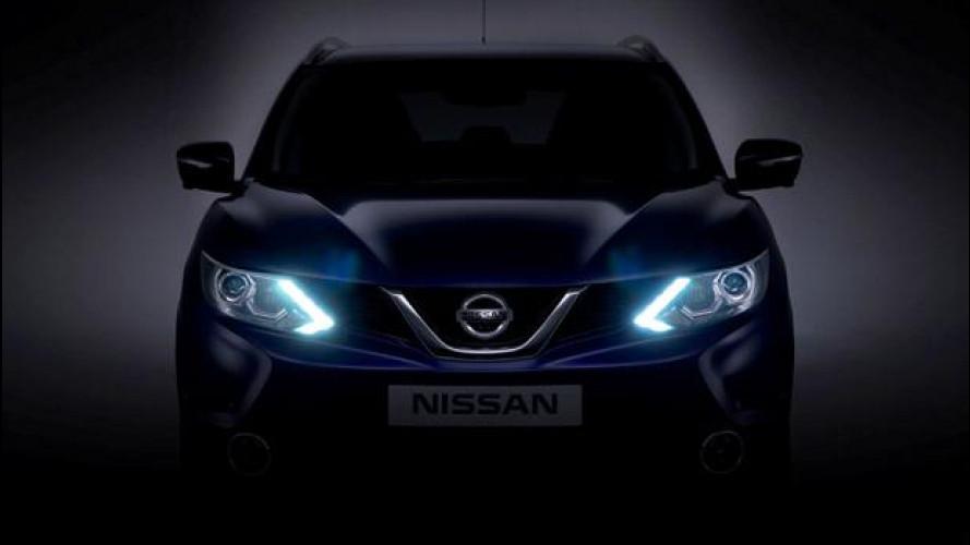 Nuovo Nissan Qashqai, la prima foto del frontale
