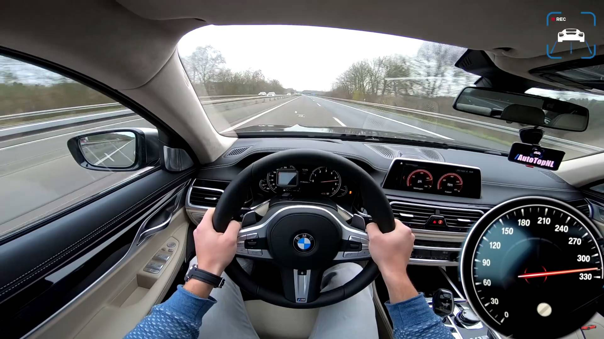 Bmw M760i Hits Nearly 200 Mph During Autobahn Top Speed Run