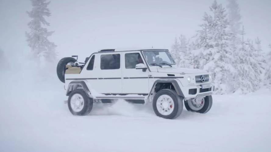 Maybach G650 Landaulet Drifting In The Snow Is Worth Watching