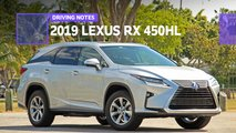 2019 lexus rx 450hl drive notes review