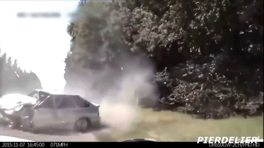 Watch This Tesla Car Crash Avoidance Super Cut Video